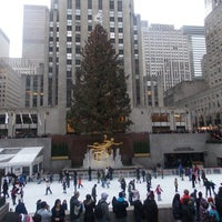 Photo taken at Rockefeller Center Christmas Tree by Asha I. on 12/25/2012
