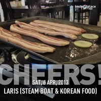 Photo taken at LARIS (steam boat & korean food) by Henry S. on 4/6/2013