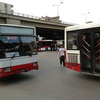 Photo taken at Bornova Metro Otobüs Durağı by Kadir B. on 4/5/2013