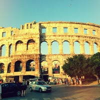 Photo taken at Arena Pula | The Pula Amphitheater by Andreas S. on 7/28/2013