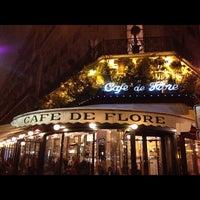 Photo taken at Café de Flore by Emanuel du japon on 1/20/2013