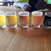 Photo taken at Werk Force Brewing Co. by Veronica G. on 7/7/2018