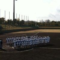Photo taken at 今津スタジアム by Yoshinobu N. on 4/13/2013
