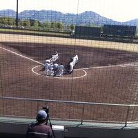Photo taken at 今津スタジアム by Yoshinobu N. on 5/6/2013