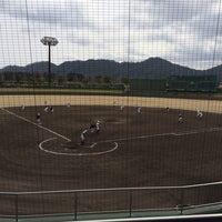 Photo taken at 今津スタジアム by Yoshinobu N. on 3/31/2014