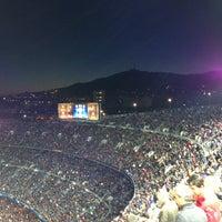 Photo taken at Camp Nou by Андрей Л. on 5/1/2013