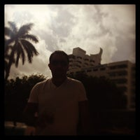 Photo taken at Skybar at Shore Club by Hooman T. on 12/14/2012