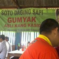 Photo taken at Soto Sapi Gumyak Kang Kasidi by GunaBangsa J. on 12/20/2012