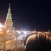Photo taken at Bolshoy Kamenny Bridge by Julia G. on 3/29/2013