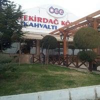 Photo taken at ÖgeTekirdağ Köftecisi by Ezgi N. on 1/26/2014