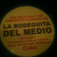 Photo taken at La Bodeguita del Medio by Vero Y. on 12/10/2012