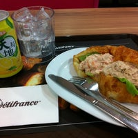 Photo taken at Delifrance by Valerie on 5/7/2014