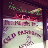Photo taken at Hackenmueller's Meat Market by Russ G. on 6/28/2013