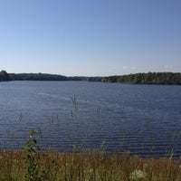 Photo taken at St. Mary's Lake by Alec R. on 9/30/2012