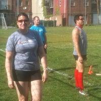 Photo taken at Stonewall Kickball by Elizabeth M. on 4/29/2012