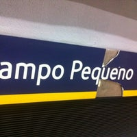 Photo taken at Metro Campo Pequeno [AM] by sergio g. on 3/23/2012