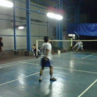 Photo taken at Tirtamas Badminton Court by Aang A. on 1/6/2013