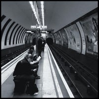 Photo taken at Clapham North London Underground Station by Chris K. on 10/27/2012