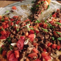 ... Photo Taken At Round Table Pizza By Delaram A. On 4/22/2013 ...