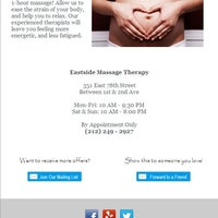 Photo taken at Eastside Massage Therapy by Eastside Massage Therapy on 3/12/2014