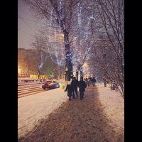 Photo taken at Трамвайная остановка «Серпуховская застава» by Настя Ж. on 12/21/2013