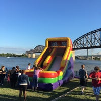 Photo taken at Jeffersonville Riverstage by Javier C. on 7/15/2017