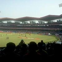 Photo taken at Jawaharlal Nehru Stadium by Anand R. on 1/15/2013