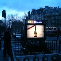 Photo taken at Métro Bastille [1,5,8] by Mado R. on 12/29/2012