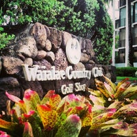 Photo taken at Waialae Country Club by Johnelle S. on 1/28/2013