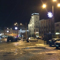 Photo taken at Masarykovo náměstí by Jakub H. on 12/23/2012