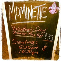 Photo taken at Mominette by Tim B. on 2/14/2013