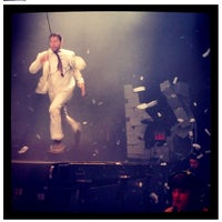 Photo taken at Daryl Roth Theatre (Fuerza Bruta Wayra) by Natali S. on 3/10/2013