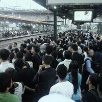 Photo taken at Stasiun Tanah Abang by Tikah A. on 1/29/2013