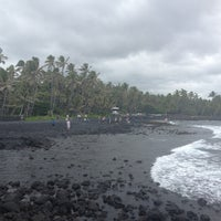 Photo taken at Punalu'u Black Sand Beach by Peter R. on 6/29/2013