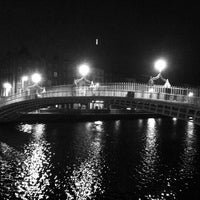Photo taken at The Ha'penny (Liffey) Bridge by Harm on 4/28/2013