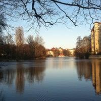 Photo taken at Lietzensee by Lilian G. on 3/3/2013