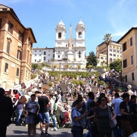Photo taken at Piazza di Spagna by Андрей Ф. on 4/18/2013
