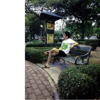 Photo taken at Sri Mueang Park by maomao s. on 4/14/2013