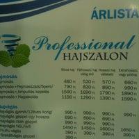 Photo taken at Professional Hajszalon by Eszti B. on 1/9/2013
