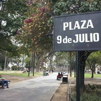 Photo taken at Plaza 9 de Julio by Paula S. on 6/16/2013