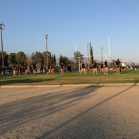 Photo taken at Old Banning High Stadium by Cody M. on 9/19/2013