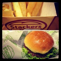 Photo taken at Stackers Burger Café by Bibay S. on 7/4/2013