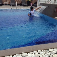 Photo taken at Pearl Grand Hotel pool by Aani🌹 on 10/20/2013