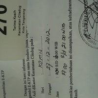 Photo taken at Kantor Kecamatan Ciledug - Kota Tangerang by Sevi H. on 12/27/2012
