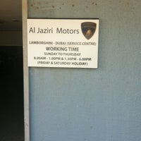 Photo taken at Lamborghini Service Centre by Timur K. on 12/27/2012