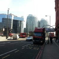 Photo taken at Old Street Roundabout by Murat G. on 3/4/2013