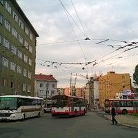 Photo taken at Mendlovo náměstí (tram, bus) by Lukáš L. on 5/27/2014