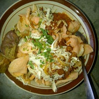 Photo taken at Bubur Ayam Pasar Baru Depok by fudyanisa on 12/22/2012