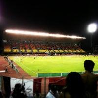 Photo taken at Estadio Olímpico Universitario by Bryan P. on 2/14/2013