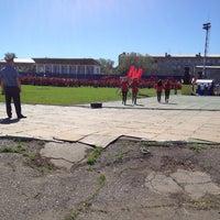 Photo taken at Стадион «Динамо» by Ella🍭 on 5/18/2013